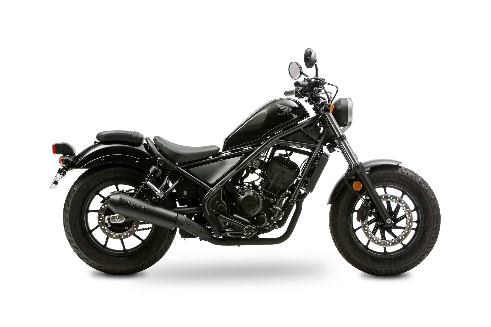 REBEL250 17- SlipOn Exhaust NEO CLASSIC  BK
