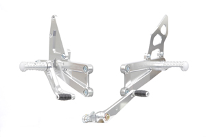 CBR600RR 07- RACING BACK STEP KIT SILVER