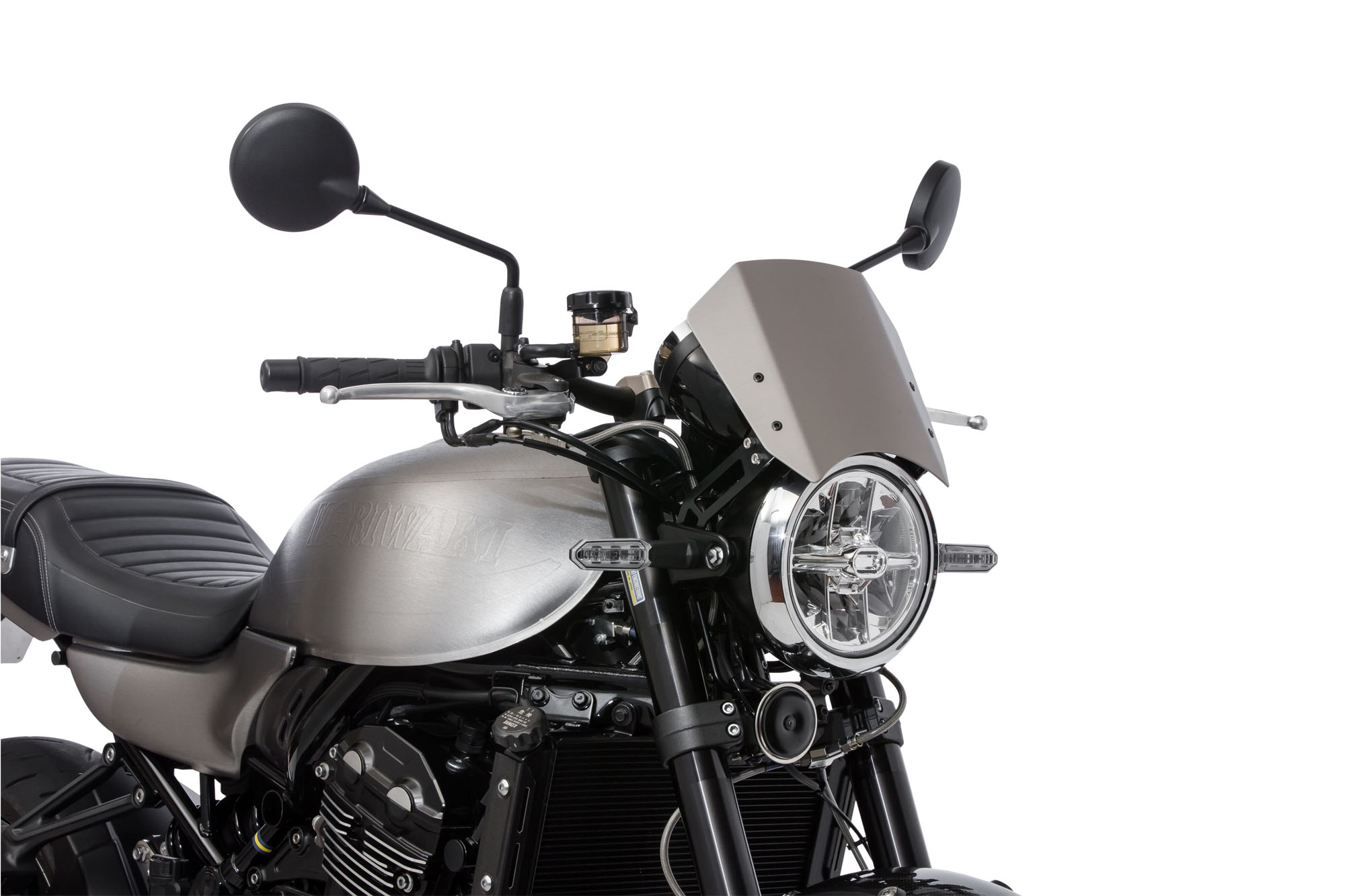 Z900RS 18- METER VISOR KIT GUN METALIC